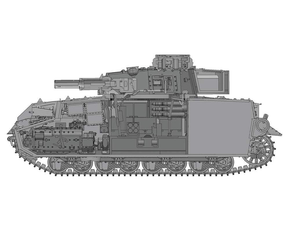 ガールズ&パンツァー『IV号戦車H型 あんこうチーム 内部再現仕様 w/フィギュアセット』1/35 プラモデル-002