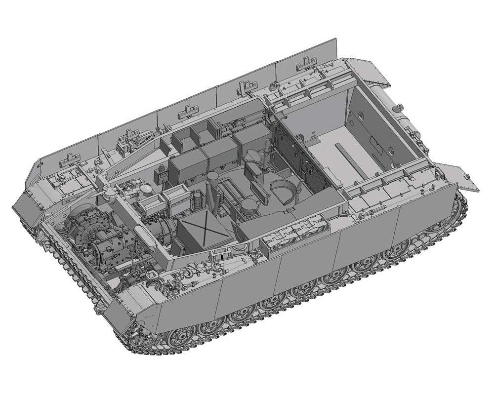 ガールズ&パンツァー『IV号戦車H型 あんこうチーム 内部再現仕様 w/フィギュアセット』1/35 プラモデル-003