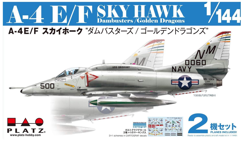 """1/144『A-4E/F スカイホーク """"ダムバスターズ/ゴールデンドラゴンズ""""(2機セット)』プラモデル-001"""