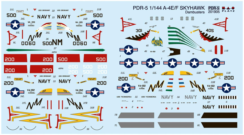 """1/144『A-4E/F スカイホーク """"ダムバスターズ/ゴールデンドラゴンズ""""(2機セット)』プラモデル-010"""