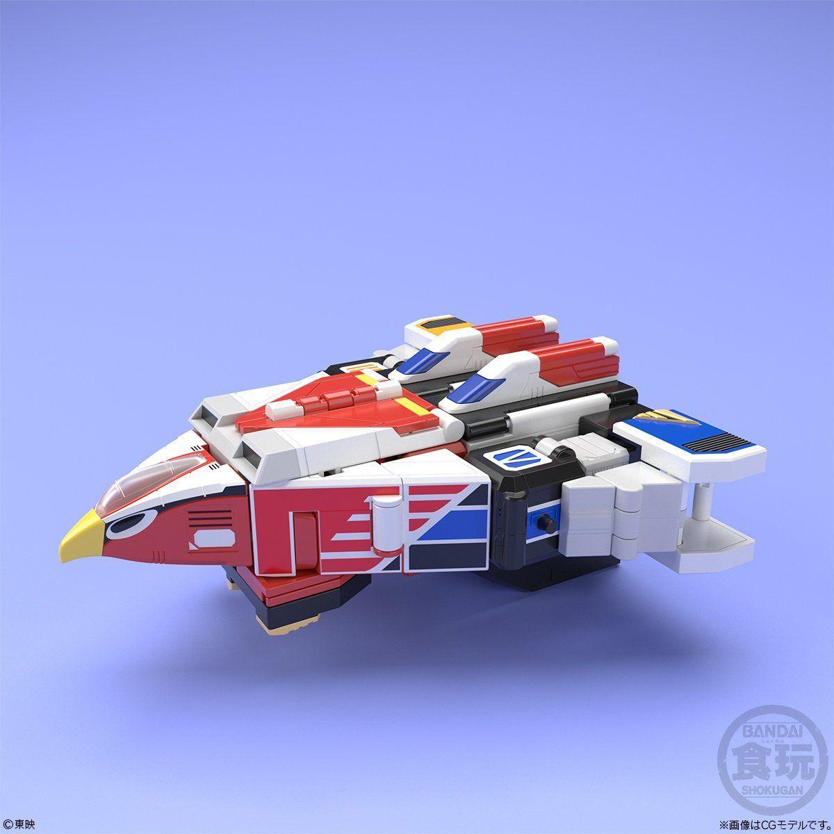 【食玩】スーパーミニプラ『天空合体 ジェットイカロス』鳥人戦隊ジェットマン プラモデル 5個入りBOX-007