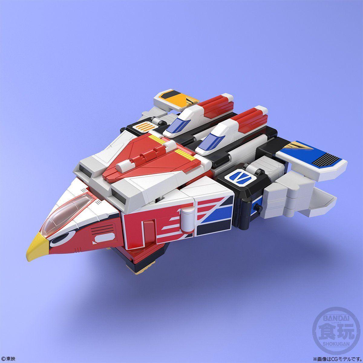 【食玩】スーパーミニプラ『天空合体 ジェットイカロス』鳥人戦隊ジェットマン プラモデル 5個入りBOX-008