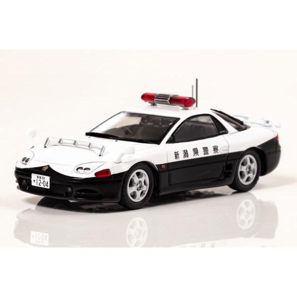 RAI'S 1/43『三菱 GTO Twin Turbo MR(Z16A)1994 新潟県警察高速道路交通警察隊車両(502)』ミニカー
