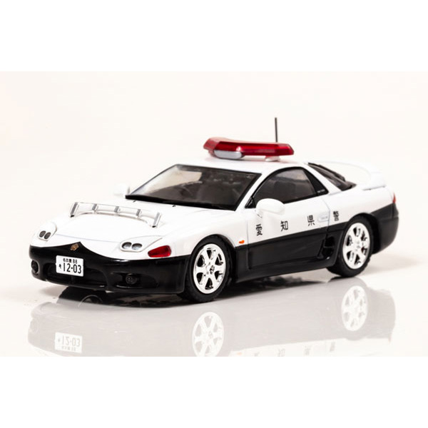 RAI'S 1/43『三菱 GTO Twin Turbo MR(Z15A)1997 愛知県警察高速道路交通警察隊車両』ミニカー