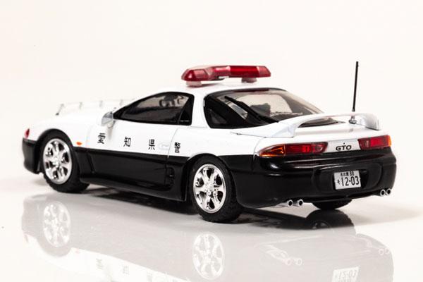 RAI'S 1/43『三菱 GTO Twin Turbo MR(Z15A)1997 愛知県警察高速道路交通警察隊車両』ミニカー-002