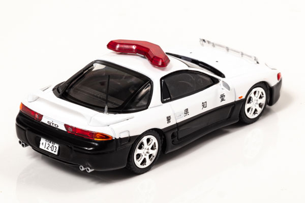 RAI'S 1/43『三菱 GTO Twin Turbo MR(Z15A)1997 愛知県警察高速道路交通警察隊車両』ミニカー-003