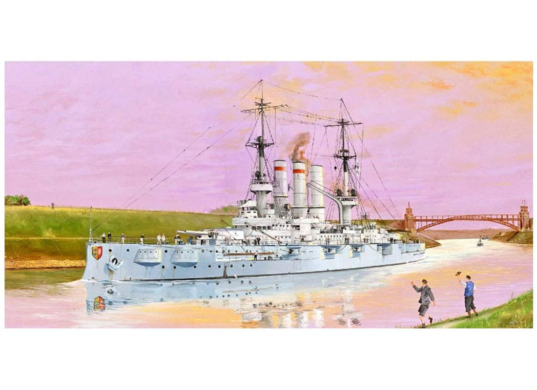 1/350『ドイツ海軍 戦艦 シュレスヴィヒ・ホルシュタイン 1908』プラモデル-001