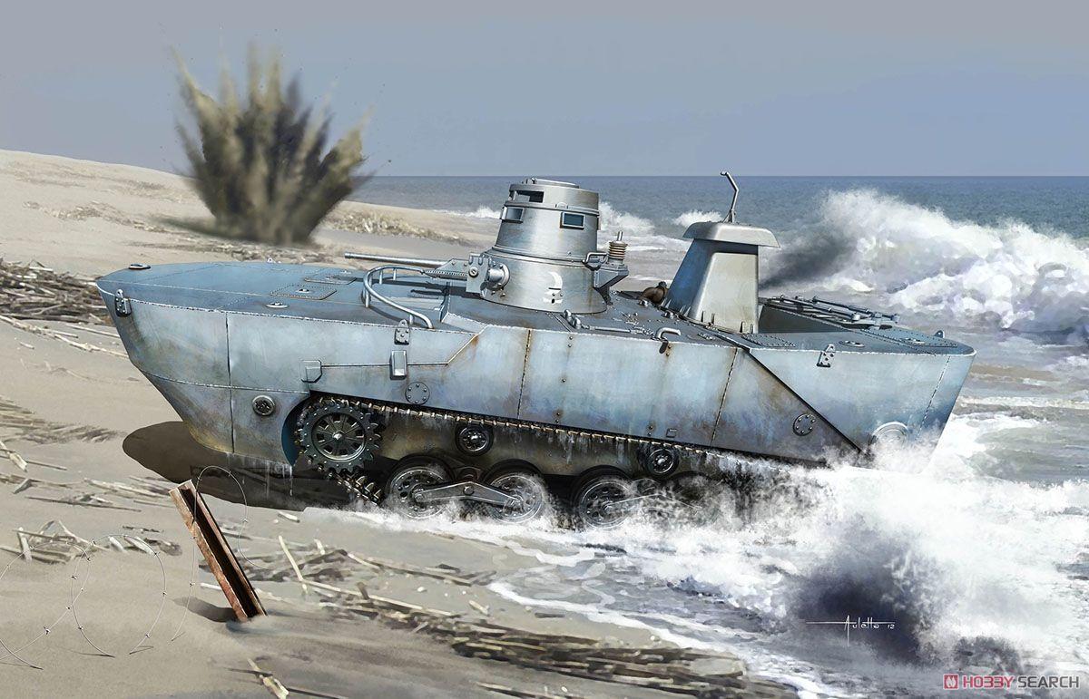 1/35『WW.II 日本海軍 水陸両用戦車 特二式内火艇 カミ 海上浮航形態(前期型フロート付き)』プラモデル-002
