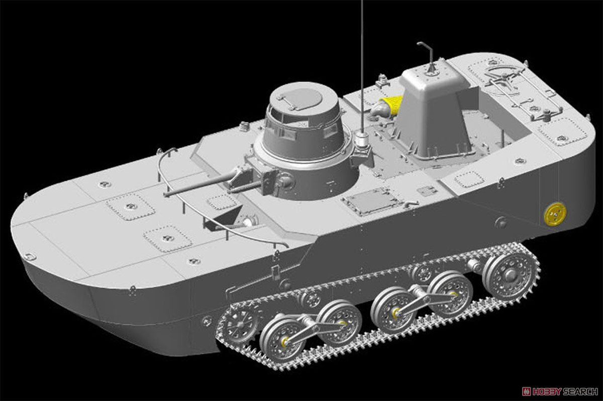 1/35『WW.II 日本海軍 水陸両用戦車 特二式内火艇 カミ 海上浮航形態(前期型フロート付き)』プラモデル-003