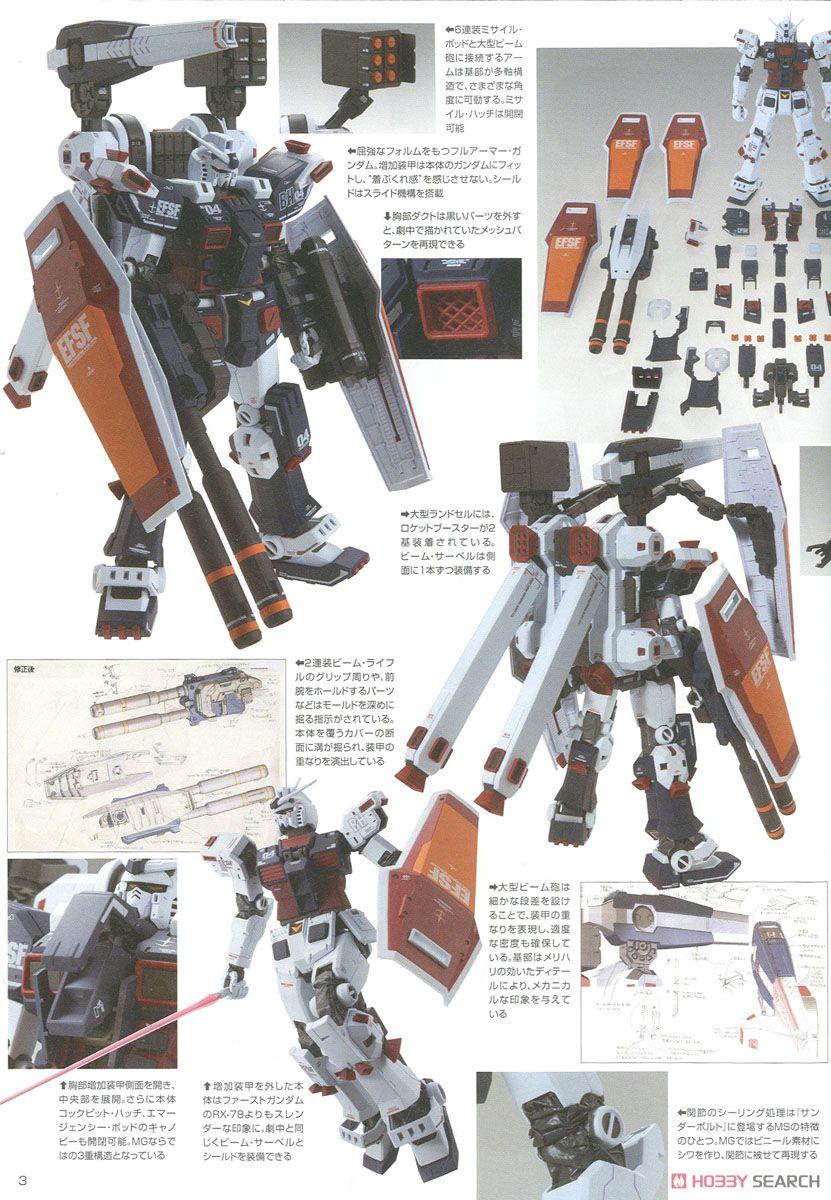 MG 1/100『フルアーマー・ガンダム Ver.Ka(GUNDAM THUNDERBOLT版)』機動戦士ガンダム サンダーボルト プラモデル-021