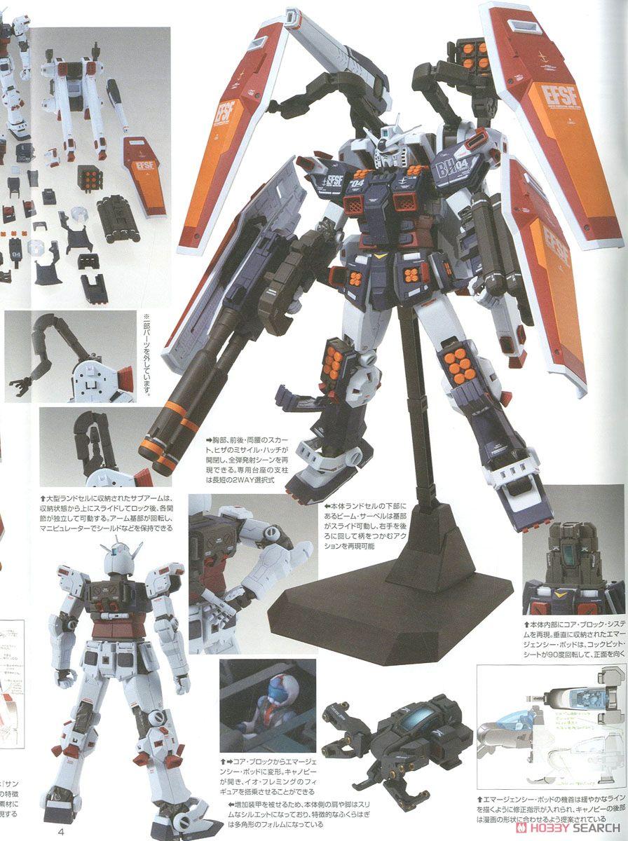 MG 1/100『フルアーマー・ガンダム Ver.Ka(GUNDAM THUNDERBOLT版)』機動戦士ガンダム サンダーボルト プラモデル-022