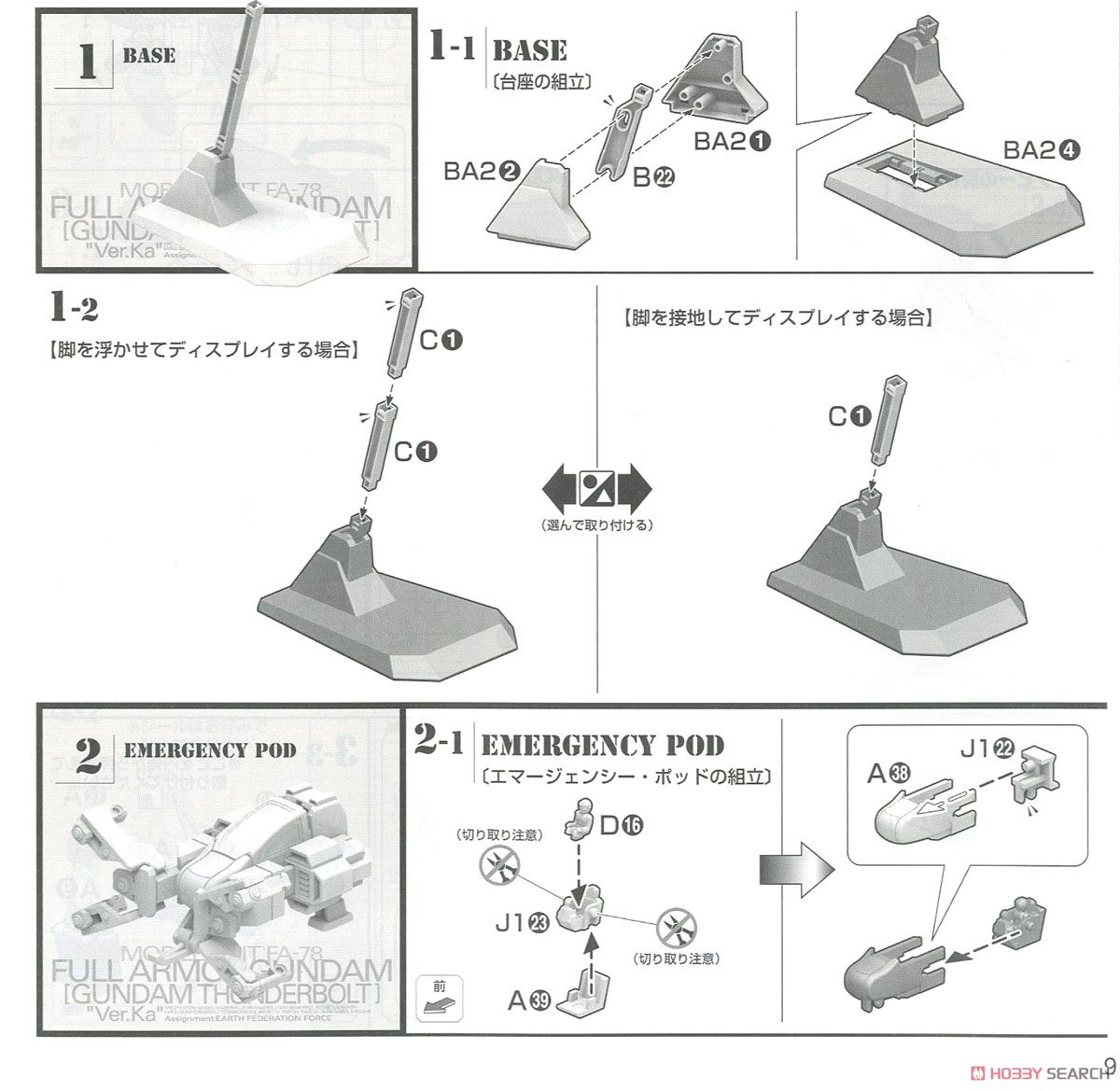 MG 1/100『フルアーマー・ガンダム Ver.Ka(GUNDAM THUNDERBOLT版)』機動戦士ガンダム サンダーボルト プラモデル-025