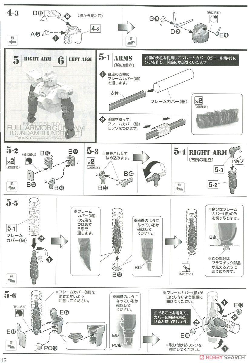 MG 1/100『フルアーマー・ガンダム Ver.Ka(GUNDAM THUNDERBOLT版)』機動戦士ガンダム サンダーボルト プラモデル-028