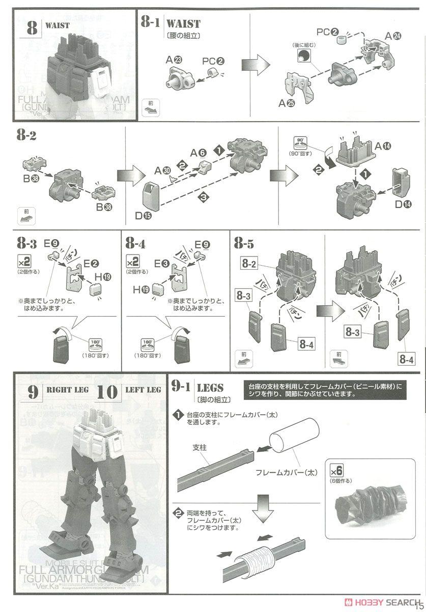 MG 1/100『フルアーマー・ガンダム Ver.Ka(GUNDAM THUNDERBOLT版)』機動戦士ガンダム サンダーボルト プラモデル-031