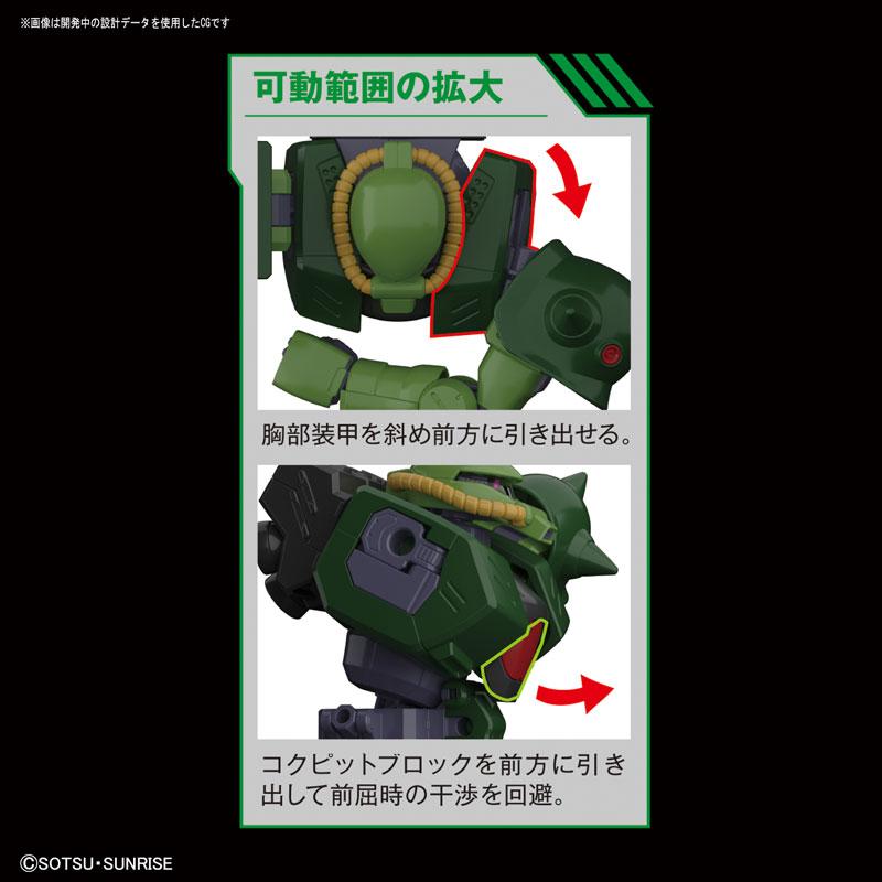 RE/100 1/100『ザクII改』ガンダム0080 プラモデル-005