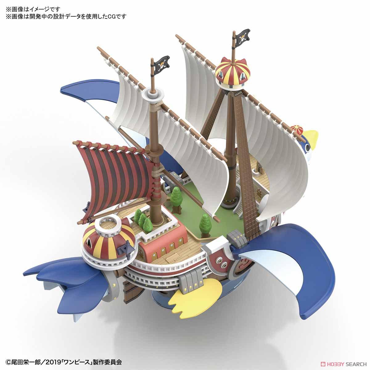 偉大なる船コレクション『サウザンド・サニー号 フライングモデル』ワンピース プラモデル-009
