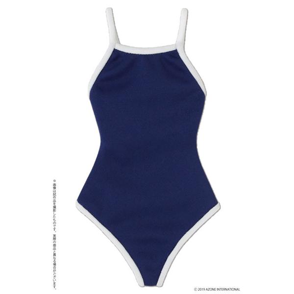 AZO2『競泳用水着 ネイビー×ホワイト』1/3 ドール服