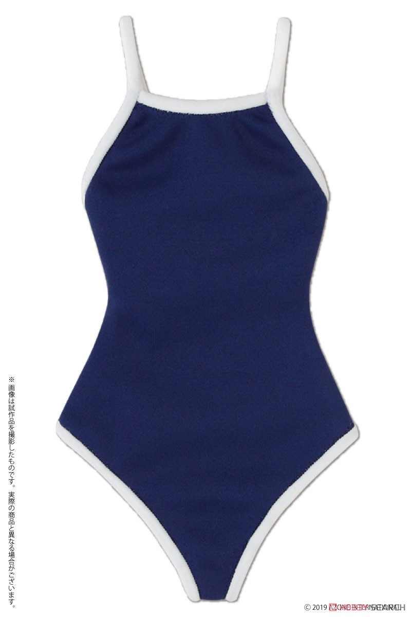 AZO2『競泳用水着 ネイビー×ホワイト』1/3 ドール服-001