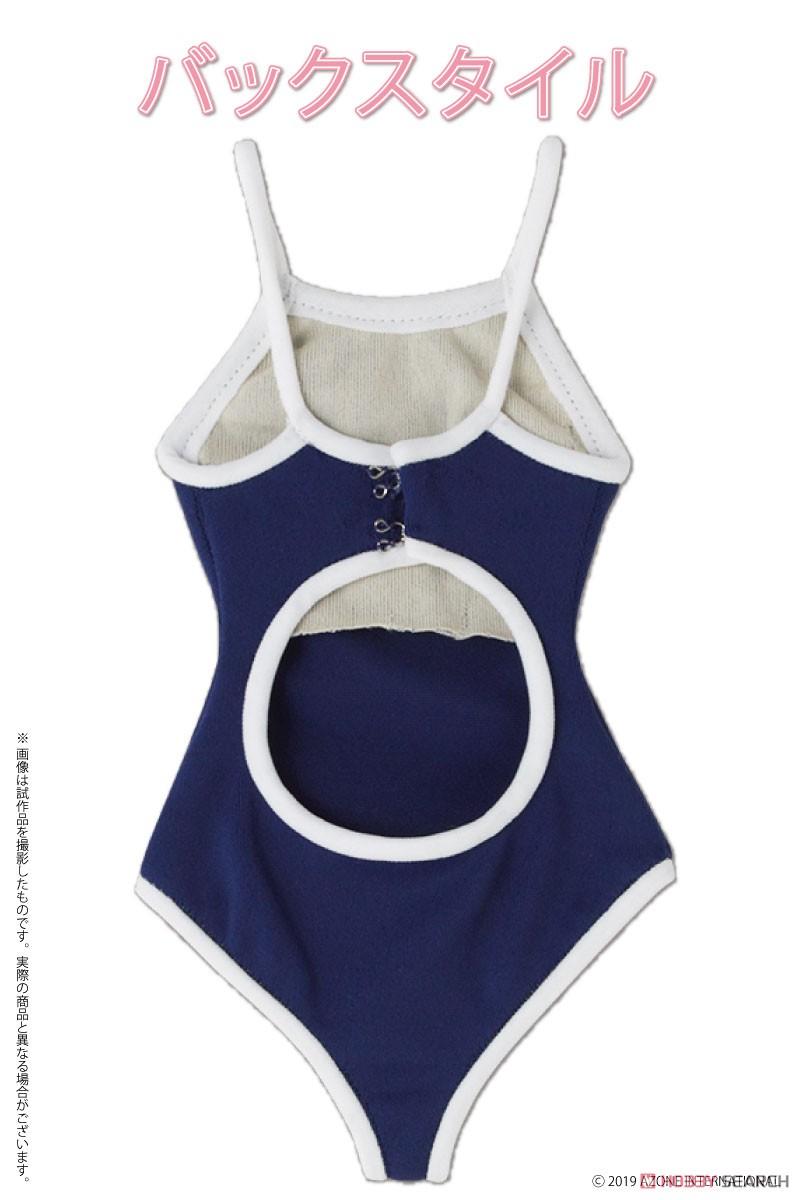 AZO2『競泳用水着 ネイビー×ホワイト』1/3 ドール服-002