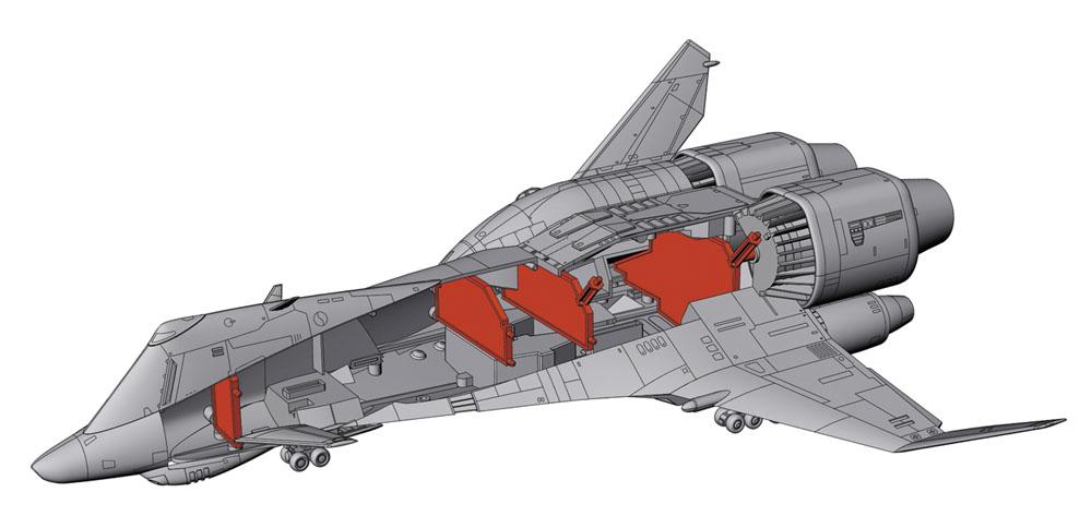 クラッシャージョウ『ミネルバ』1/400 プラモデル-002