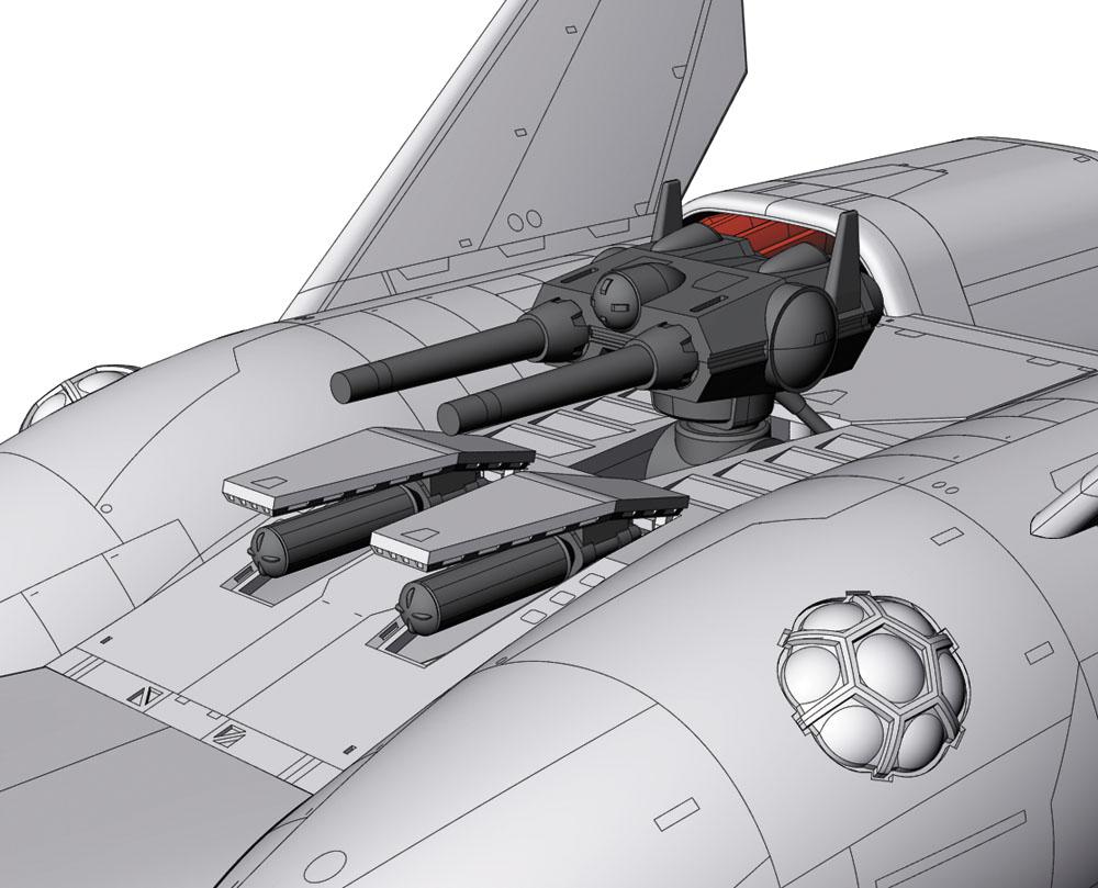 クラッシャージョウ『ミネルバ』1/400 プラモデル-004
