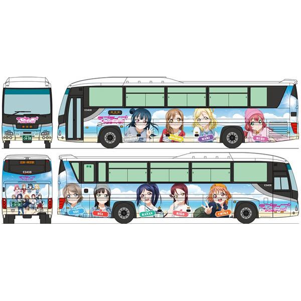 ザ・バスコレクション 1/150『富士急シティバス ラブライブ!サンシャイン!! ラッピングバス』Nゲージ