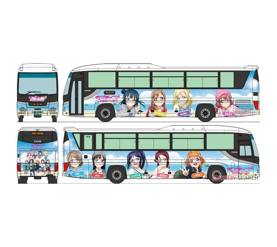 ザ・バスコレクション 1/150『富士急シティバス ラブライブ!サンシャイン!! ラッピングバス』Nゲージ-001