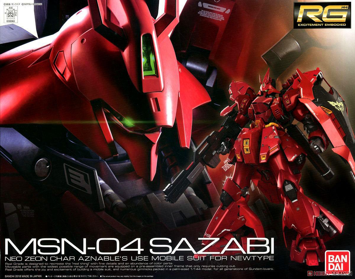 【再販】RG 1/144『サザビー』逆襲のシャア プラモデル-001