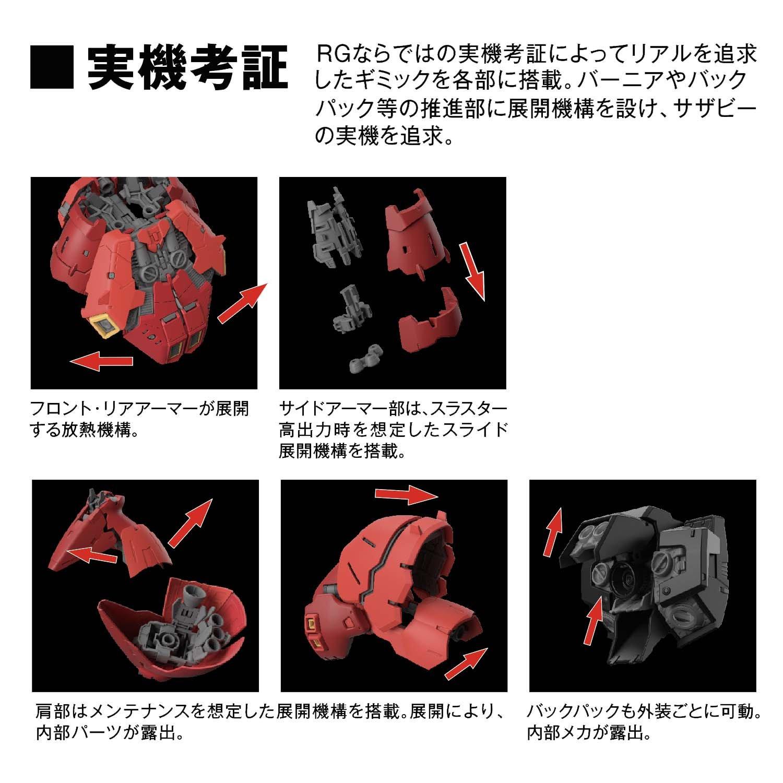 【再販】RG 1/144『サザビー』逆襲のシャア プラモデル-009