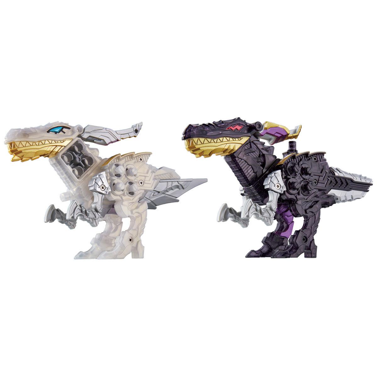 騎士竜戦隊リュウソウジャー『騎士竜シリーズ08&09 DXシャインラプター&シャドーラプターセット』可変可動フィギュア-001