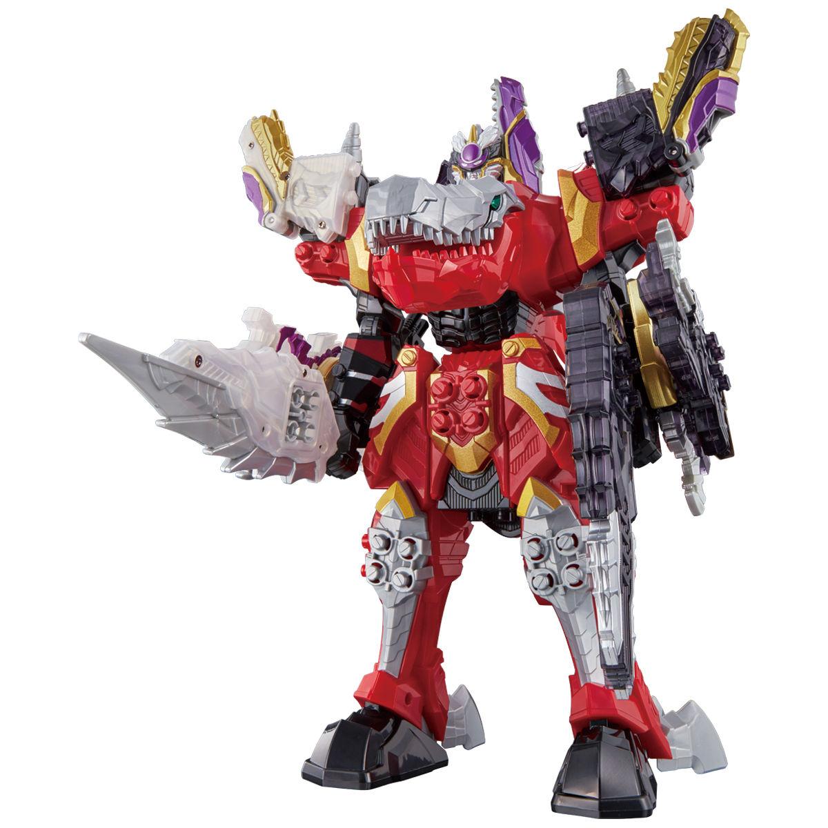 騎士竜戦隊リュウソウジャー『騎士竜シリーズ08&09 DXシャインラプター&シャドーラプターセット』可変可動フィギュア-008