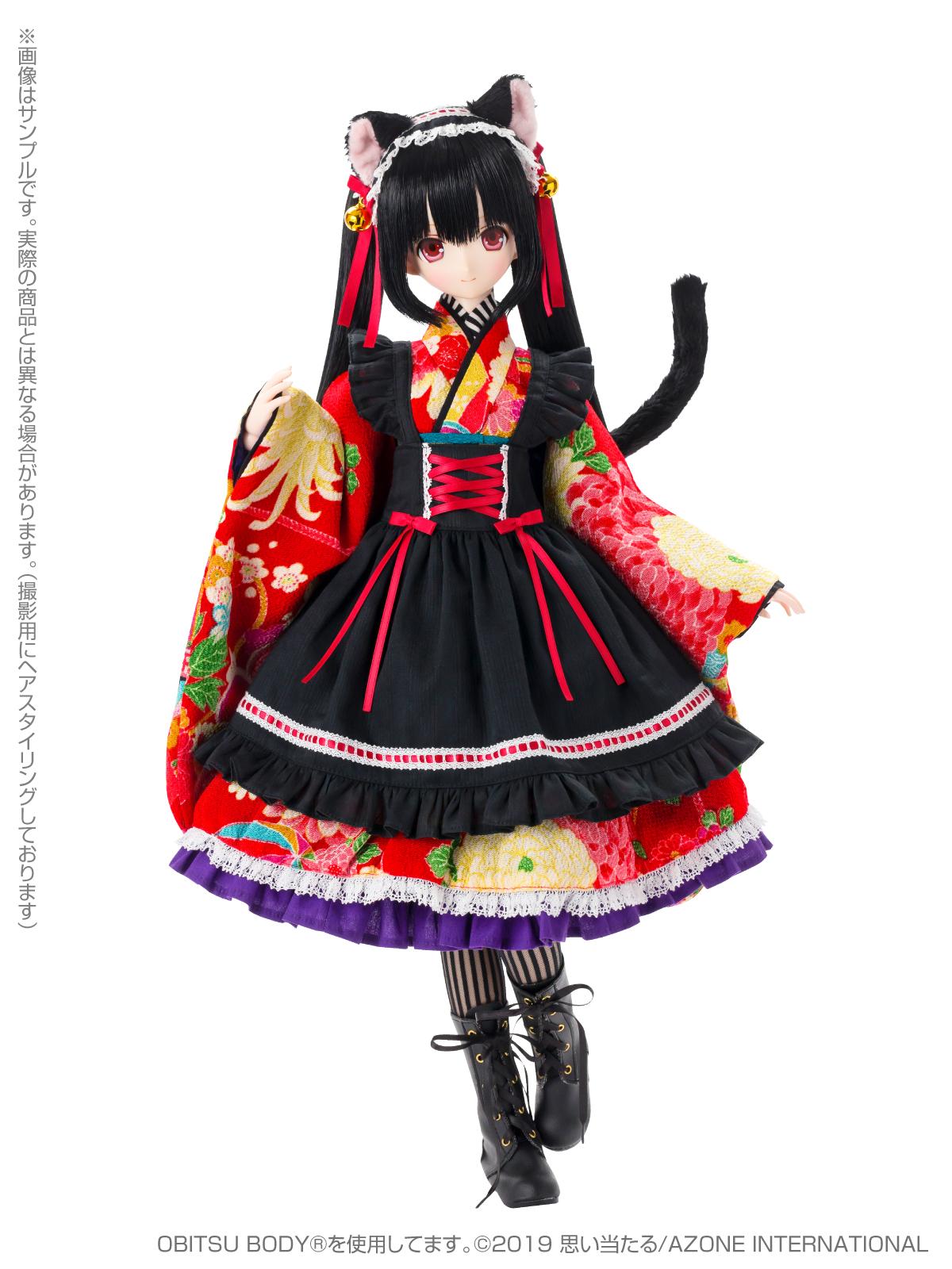 Black Raven『Lilia(リリア)~大正浪漫~ 黒猫』1/3 完成品ドール-001