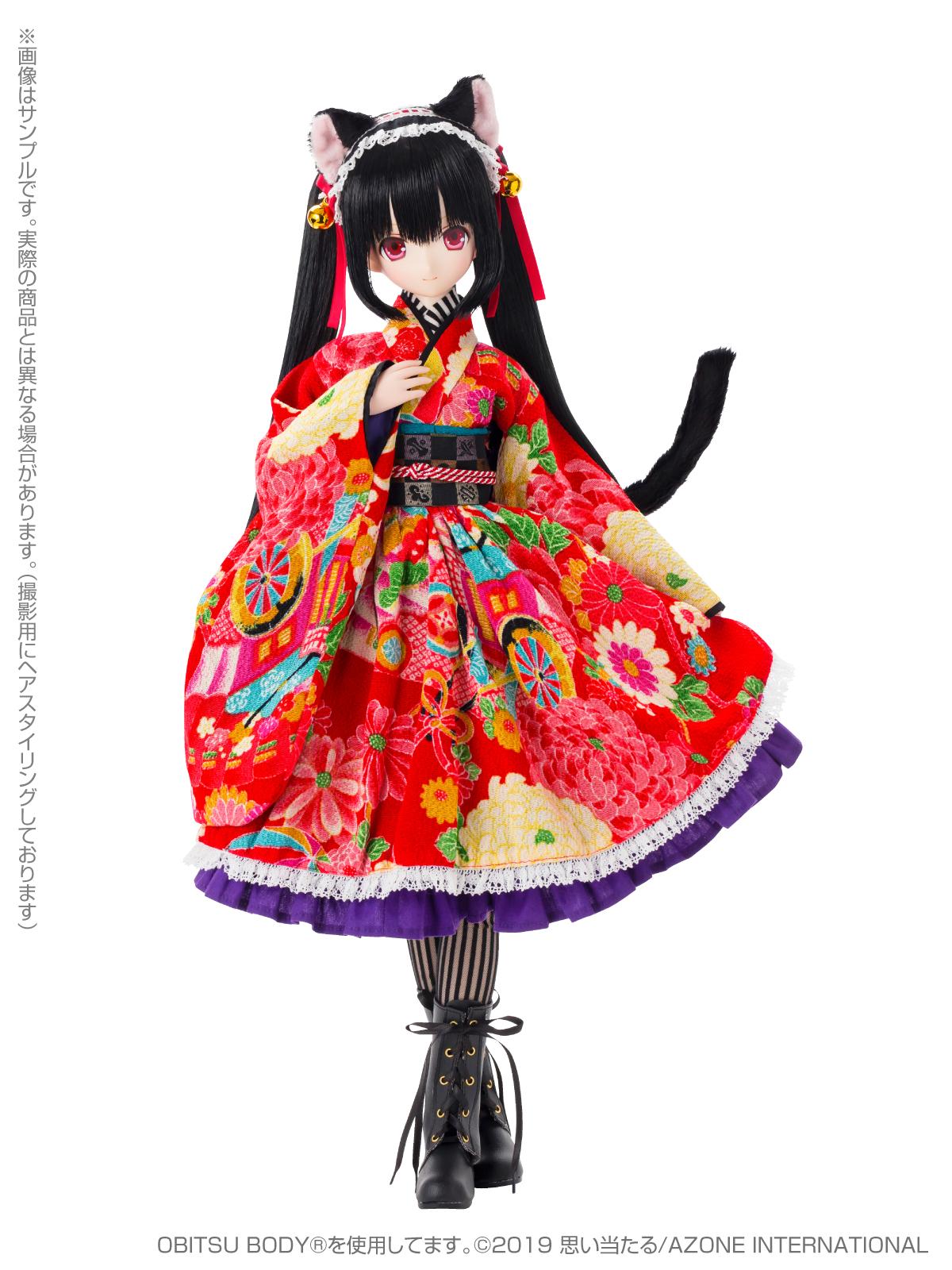 Black Raven『Lilia(リリア)~大正浪漫~ 黒猫』1/3 完成品ドール-002