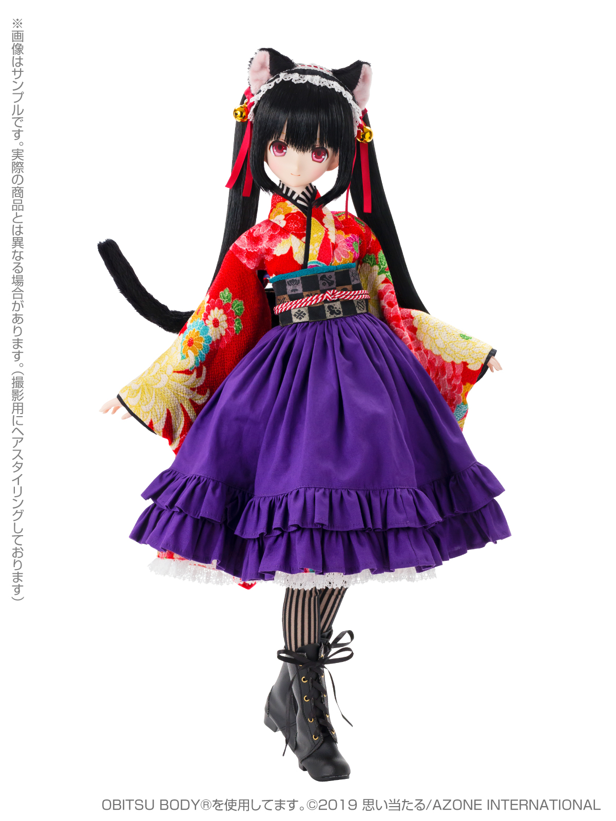 Black Raven『Lilia(リリア)~大正浪漫~ 黒猫』1/3 完成品ドール-003