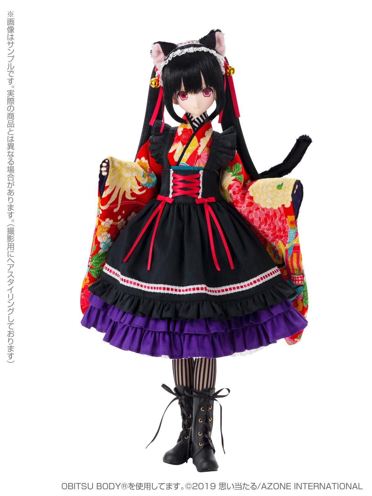 Black Raven『Lilia(リリア)~大正浪漫~ 黒猫』1/3 完成品ドール-004