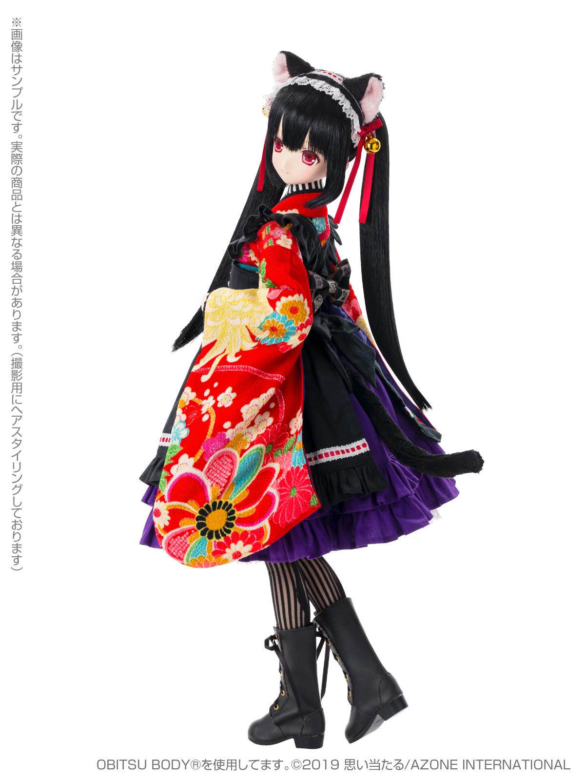 Black Raven『Lilia(リリア)~大正浪漫~ 黒猫』1/3 完成品ドール-005