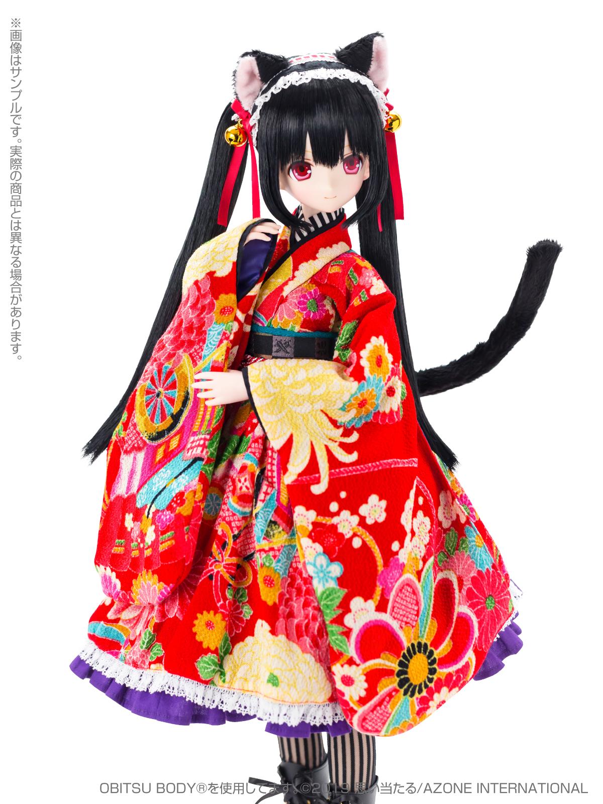 Black Raven『Lilia(リリア)~大正浪漫~ 黒猫』1/3 完成品ドール-006