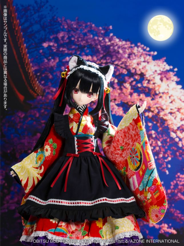Black Raven『Lilia(リリア)~大正浪漫~ 黒猫』1/3 完成品ドール-007
