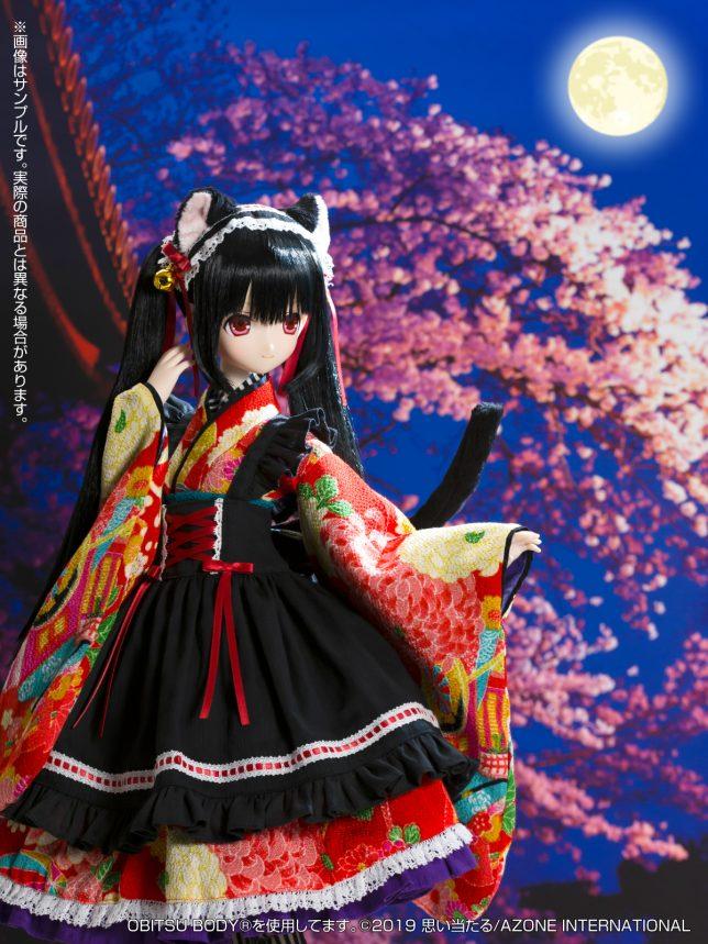 Black Raven『Lilia(リリア)~大正浪漫~ 黒猫』1/3 完成品ドール-008