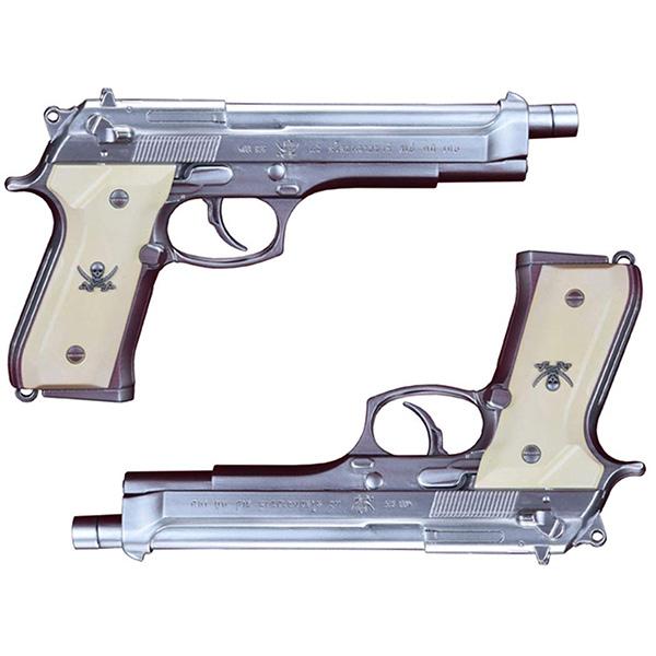 "BLACK LAGOON『SWORD CUTLASS the Water Gun ""Two Hand set""』1/1 ウォーターガン 塗装版シルバー2丁セット"