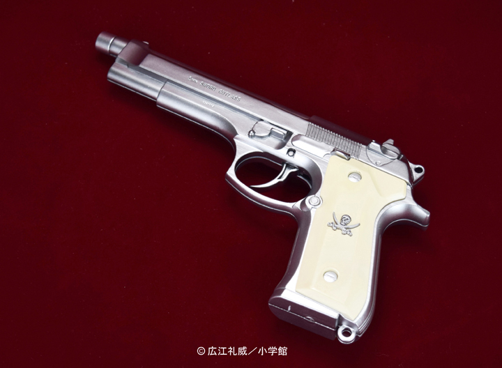 "BLACK LAGOON『SWORD CUTLASS the Water Gun ""Two Hand set""』1/1 ウォーターガン 塗装版シルバー2丁セット-003"