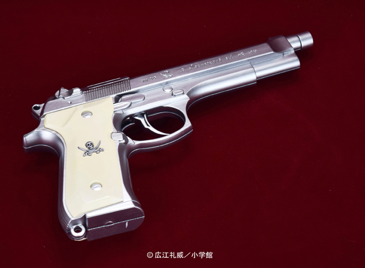 "BLACK LAGOON『SWORD CUTLASS the Water Gun ""Two Hand set""』1/1 ウォーターガン 塗装版シルバー2丁セット-004"