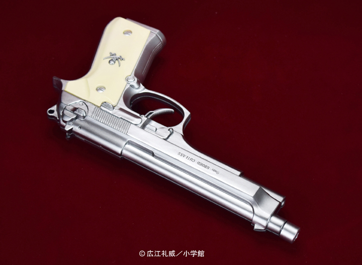 "BLACK LAGOON『SWORD CUTLASS the Water Gun ""Two Hand set""』1/1 ウォーターガン 塗装版シルバー2丁セット-005"