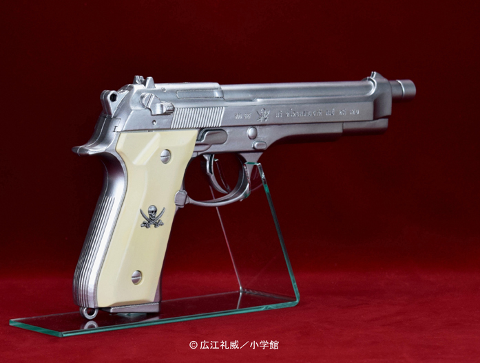 "BLACK LAGOON『SWORD CUTLASS the Water Gun ""Two Hand set""』1/1 ウォーターガン 塗装版シルバー2丁セット-007"
