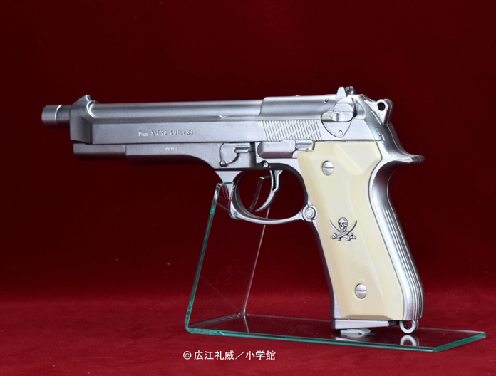 "BLACK LAGOON『SWORD CUTLASS the Water Gun ""Two Hand set""』1/1 ウォーターガン 塗装版シルバー2丁セット-008"