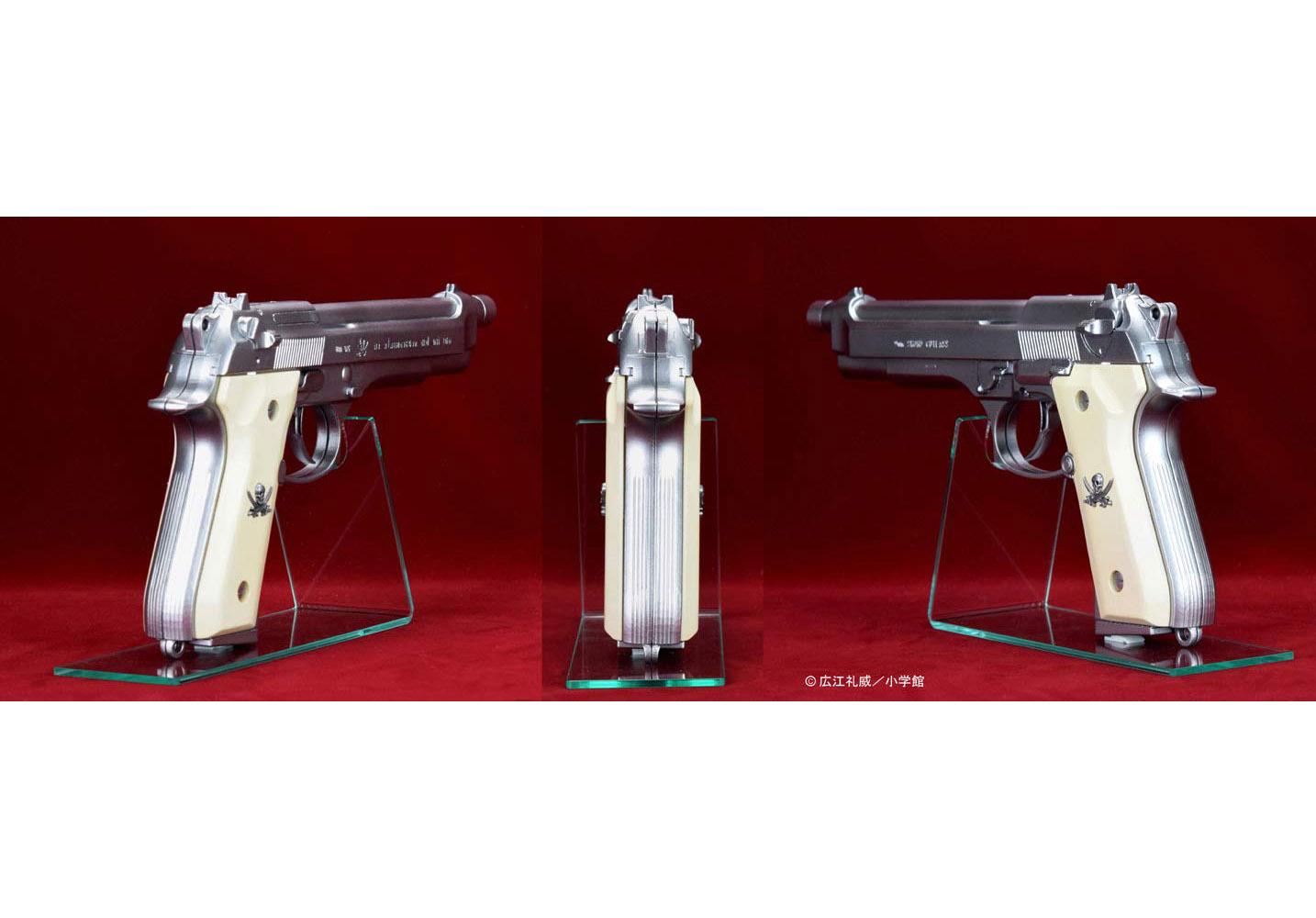 "BLACK LAGOON『SWORD CUTLASS the Water Gun ""Two Hand set""』1/1 ウォーターガン 塗装版シルバー2丁セット-010"