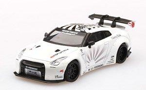 MINI GT 1/64『LB★WORKS Nissan GT-R R35 タイプ1 リアウイング バージョン 1+2 ホワイト【左ハンドル】』ミニカー
