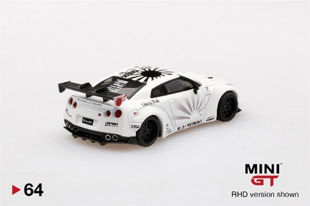 MINI GT 1/64『LB★WORKS Nissan GT-R R35 タイプ1 リアウイング バージョン 1+2 ホワイト【右ハンドル】』ミニカー-002