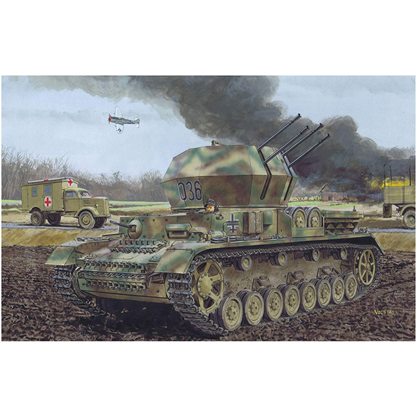 1/35『WW.II ドイツ軍 IV号対空戦車 ヴィルベルヴィント初期生産型(2 in 1)』プラモデル