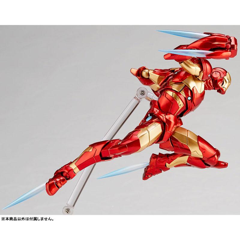【再販】フィギュアコンプレックス アメイジング・ヤマグチ No.013『アイアンマン ブリーディングエッジアーマー』可動フィギュア-002